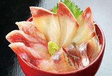 地魚三種盛り丼